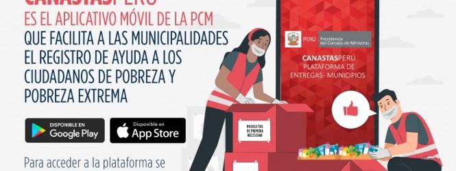 CanastasFamiliares: PCM presenta aplicativo que facilita el registro de beneficiarios de canastas entregadas por municipalidades distritales