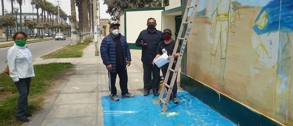 Mañana se devela mural conmemorativo al Libertador San Martín en Chincha